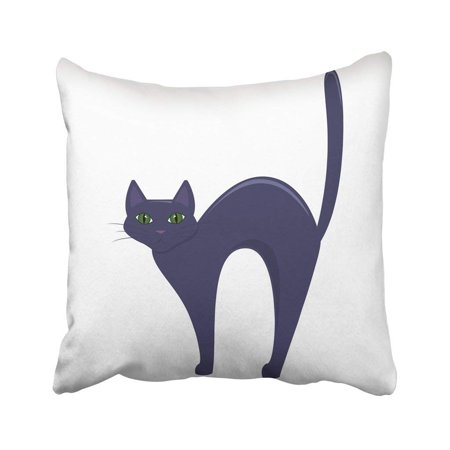 ARTJIA Silhouette Black Cat Scary Halloween Abstract Animal Cartoon Celebration Cute Domestic Pillowcase 18x18 inch (Scary Tree Silhouette Halloween)
