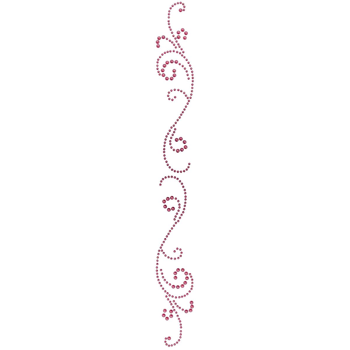 Want2scrap Want2Scrap Self-Adhesive Finesse Swirls Bling-Wild Plum Pearls