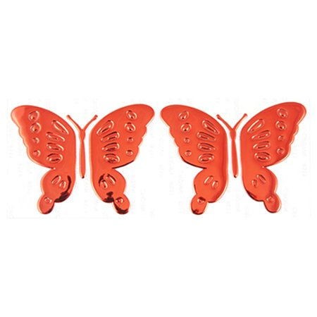 Unique Bargains 2 Pcs Dark Red Plastic Butterfly Adhesive Car Sticker Ornament (Butterfly Car)