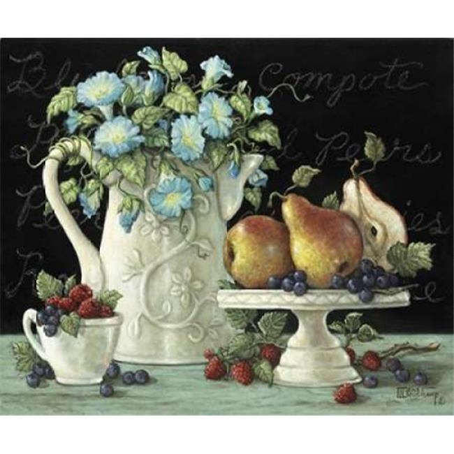 Bentley Global Arts PDX123721SMALL Morning Glories with Fruit Poster Print by Janet Kruskamp, 10 x 12 - Small - image 1 de 1