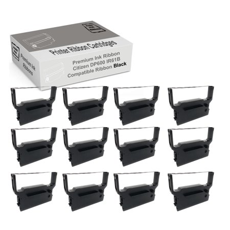 Idp 3550 Dot (Compatible Citizen iDP 3550 DP600 Black Printer Ribbon IR61B 12)