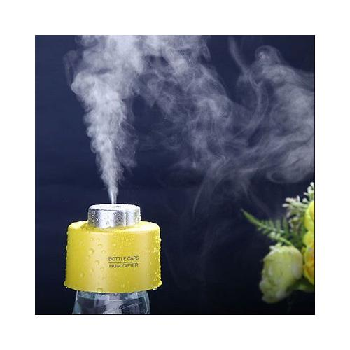 AGPtEK Portable Mini Travel Bottle Cap Ultrasonic Air Humidifier Purifier Aroma Diffuser Mist Maker Yellow