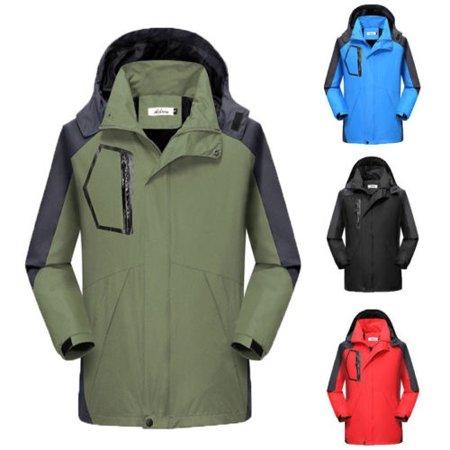 Men´s Winter Warm Duck Down Jacket Ski Jacket Snow Hooded Coat Climbing Oversize (North Face Jacket Ski Triclimate)