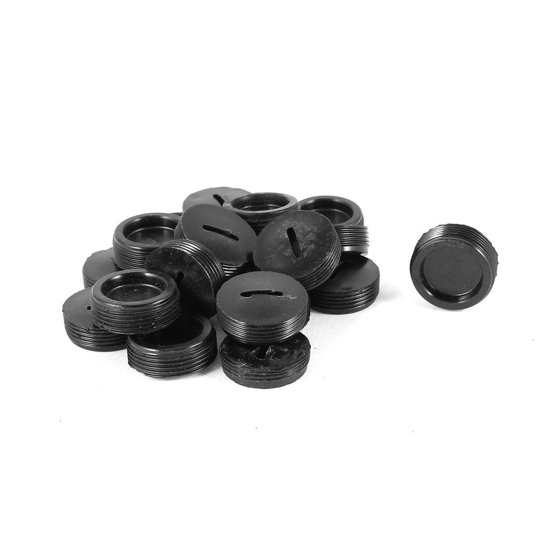 Moteur 19.5/mm Dia Filetage en plastique Noir carbone support Brosse Bouchon 20/pcs