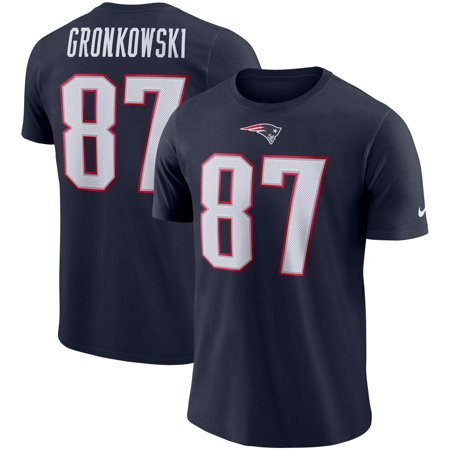 save off de2be 0db57 Rob Gronkowski New England Patriots Nike Player Pride Name & Number  Performance T-Shirt - Navy