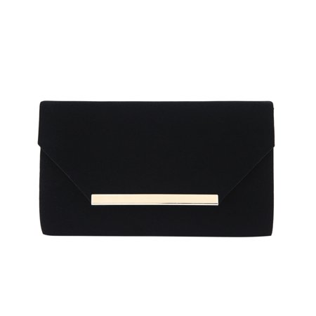 Velvet Evening Handbag - Elegant Solid Color Velvet Clutch Evening Bag Handbag