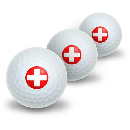Golf Novelty (Swiss Flag Novelty Golf Balls,)