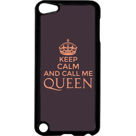 Keep Calm and Call Me Queen-Purple   - Hard Black Plastic Case Compatible with the Apple iPod Touch 6th Generation - iTouch 6 Universal](find me the cheapest ipod touch)