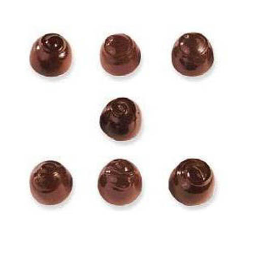 Polycarbonate Chocolate Mold Assorted Domes 32mm x 23mm High, 28 Cavities