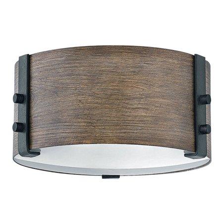 """Hinkley Lighting 29201 Sequoia Sawyer 2 Light 9"""" Wide Outdoor Flush Mount Drum Ceiling Fixture"""