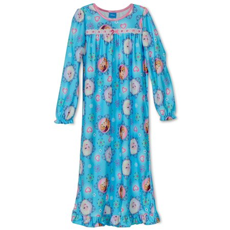Girls' Long Sleeve Nightgown Pajamas, Sizes 2-16 (Anna Coronation Gown)