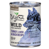 Purina Beyond High Protein, Grain Free, Natural Pate Wet Dog Food; WILD Turkey, Liver & Duck Recipe - 13 oz. Can