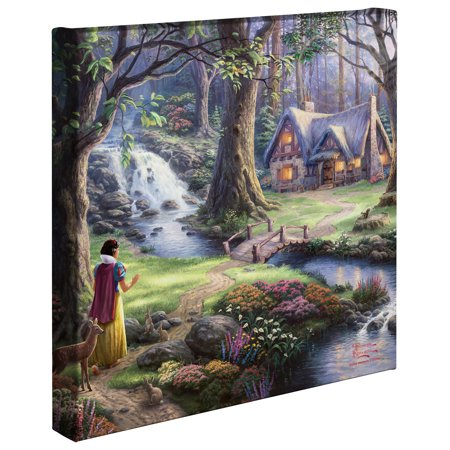 Thomas Kinkade Moonlight Cottage - Thomas Kinkade Snow White Discovers the Cottage - 14