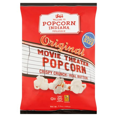 Popcorn, Indiana Original Movie Theater Popcorn Value Size, 5.5 - Popcorn Snack Ideas For Halloween