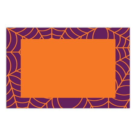 Halloween Paper Place Mats 25 Pack Spider Web Spooky Placemats School Child Adult Costume Parties Brunch Lunch Dinner Disposable Easy Cleanup 17