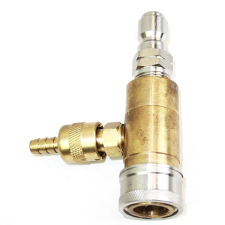 Soap Injector Coupler T Fitting for Pressure Washer Adjustable Valve 3/8