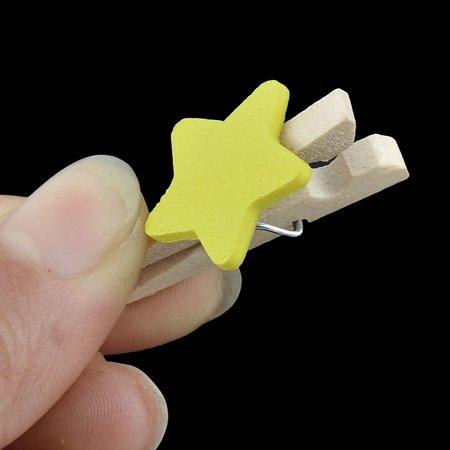 Porte Photo Carte étoile Stockagechevilles en Bois Printemps Artisanat Mini Clip 50pcs - image 1 de 3