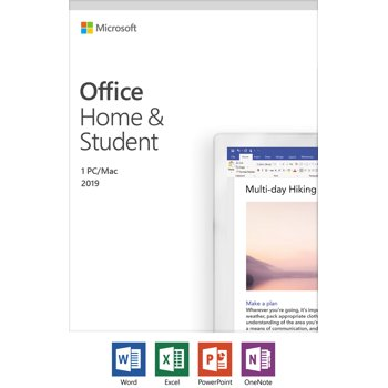 Microsoft Office Home & Student 2019 Windows/Mac 1 Device PC Key Card