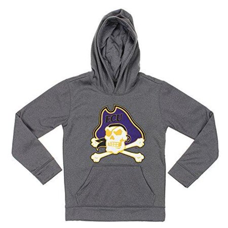 Pirate Youth Sweatshirt - NCAA Youth East Carolina Pirates Pullover Grey Hoodie