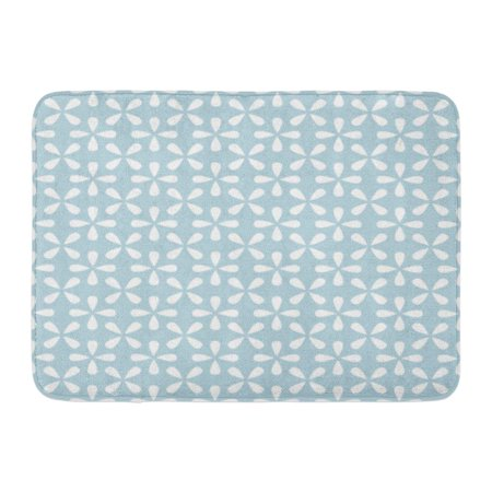 GODPOK Japanese Flower Abstract Floral Pattern Modern Graphic Blue and White Geometric Leaf Retro Simple Rug Doormat Bath Mat 23.6x15.7 inch