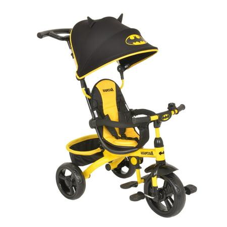 KidsEmbrace DC Comics Batman 4-in-1 Push and Ride Stroller Tricycle (Batman Baby)