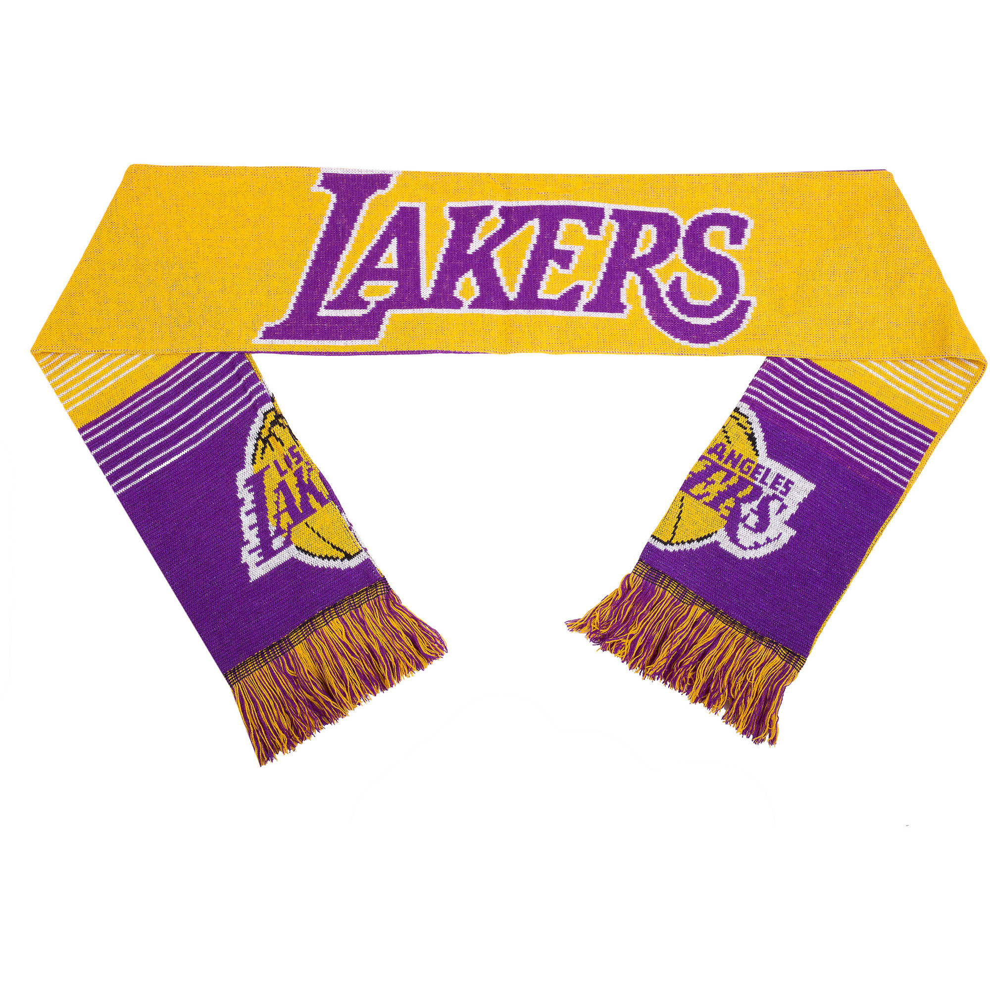 NBA Forever Collectibles Reversible Split Logo Scarf, Los Angeles Lakers