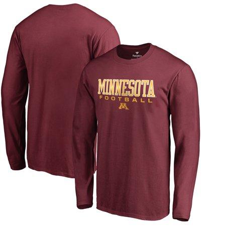 Minnesota Golden Gophers Fanatics Branded True Sport Football Long Sleeve T-Shirt - Maroon Minnesota Golden Gophers College Baseball