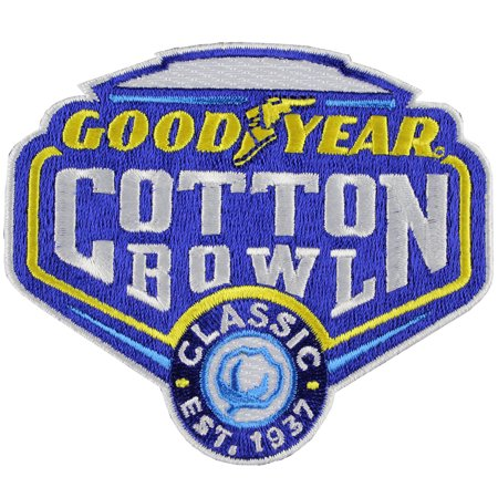 Good Year Cotton Bowl Game Jersey Patch Western Mich  Vs  Wisconsin 2017