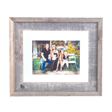 BarnwoodUSA 11x14 Signature Reclaimed Wood Float Frame Designed for 8.5x11 or 8x10 Document, Photo, - Signature Photo Frame