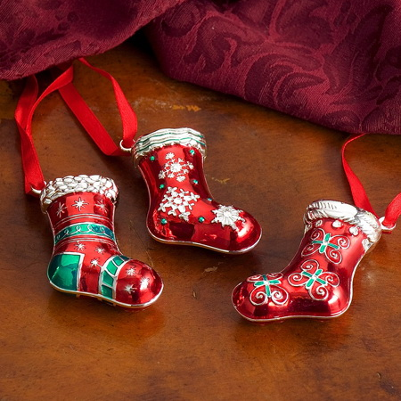 Godinger 7157 Set of 3 Stocking Ornaments