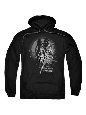 DC Comics Catwoman Minerva & Harley Bad Girls Are Good Adult Pull-Over Hoodie