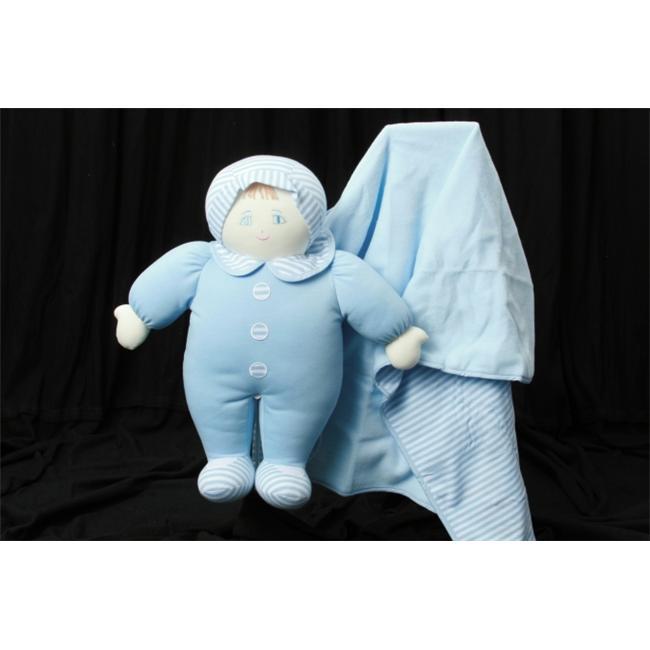 Blanket Baby Buddy Striped Doll