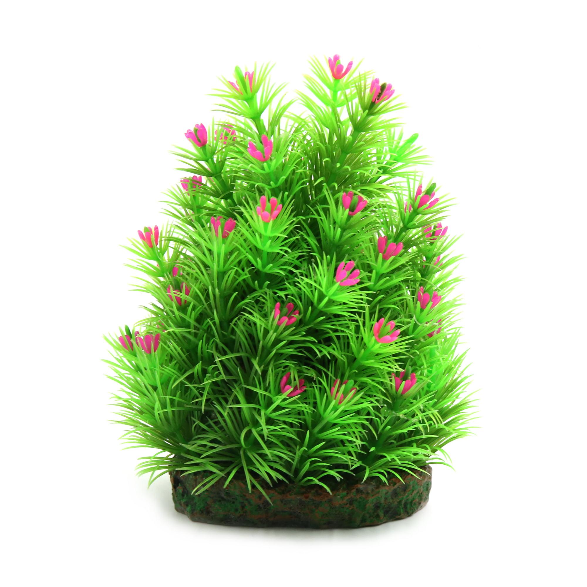5.7 Inch Pink Plastic Plant Terrarium Decor Habitat for Reptiles Amphibians by