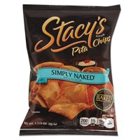 Stacy's Simply Naked Pita Chips, 1.5 oz, (Pack of 24)