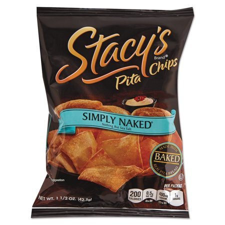 Stacy's Simply Naked Pita Chips, 1.5 oz, (Pack of