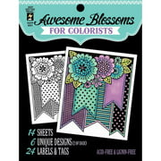 """Hot Off The Press Colorist Coloring Book, 5"""" x 6"""", Awesome Blossoms"""