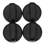 Kitchen 44 mm Diameter Plastic Black Button Switch for Gas Cooktop 4
