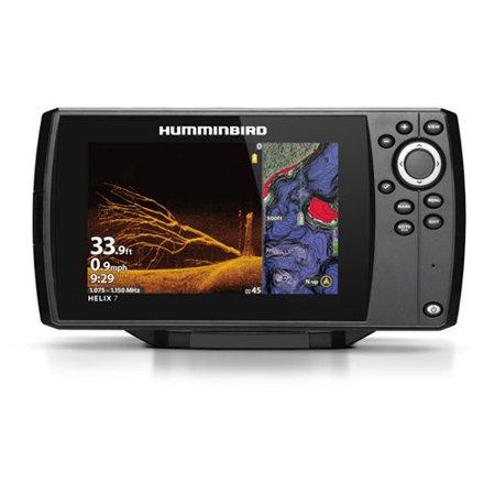 Humminbird HELIX 7 CHIRP Mega DI Fishfinder-GPS Combo G3 w/Transom Mount Transducer and T-shirt GPS Combo with Transom Mount Transducer and