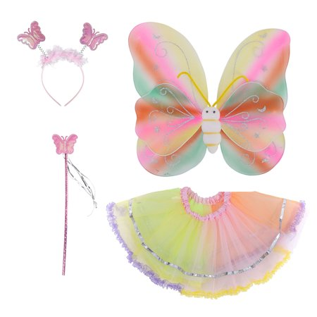 Spooktacular And Other Halloween Words (Spooktacular Costume Fairy Wings Set with Tutu, Wand, Headband -)