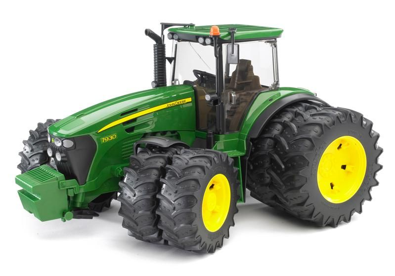 Tractor 7930 with Double Twin Tires (John Deere) Vehicle Toy by Bruder (09808) by Bruder