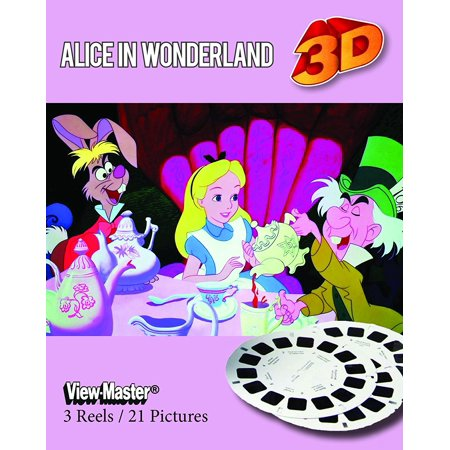 Alice in Wonderland - Classic ViewMaster - Disney Cartoon - 3 Reel Set - Classic Alice In Wonderland