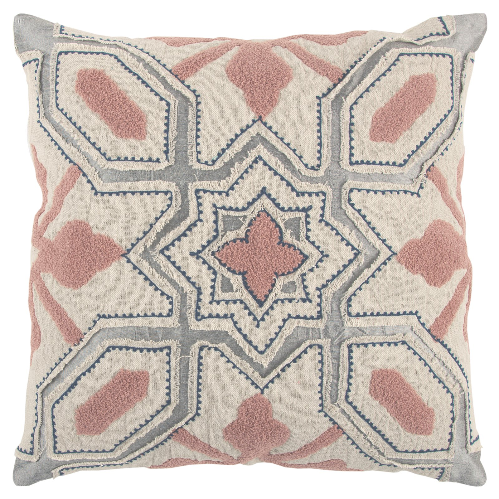Rizzy Home Deconstructed Geometric Decorative Pillow