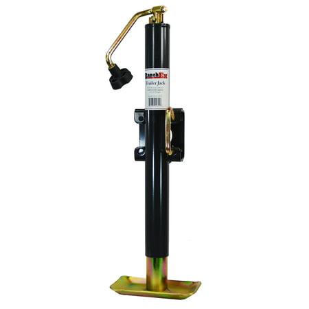 RanchEx Flange (weld) Mount Top wind Trailer Jack, 5,000 lb. Lift Capacity, 15