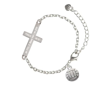 Volleyball or Water Polo Ball - Be Still and Know - Cross Bracelet