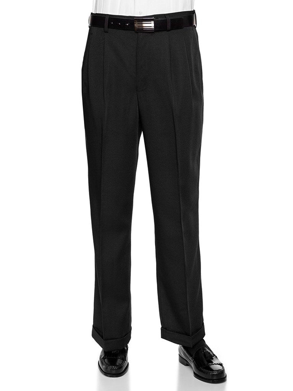 RGM Mens Work to Weekend Microfiber Performance Traditional Fit Pleated Dress Pant