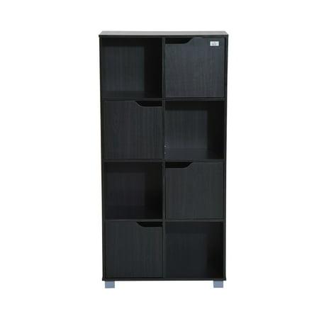 homcom cube bookcase storage shelf organizer 8 cube black. Black Bedroom Furniture Sets. Home Design Ideas