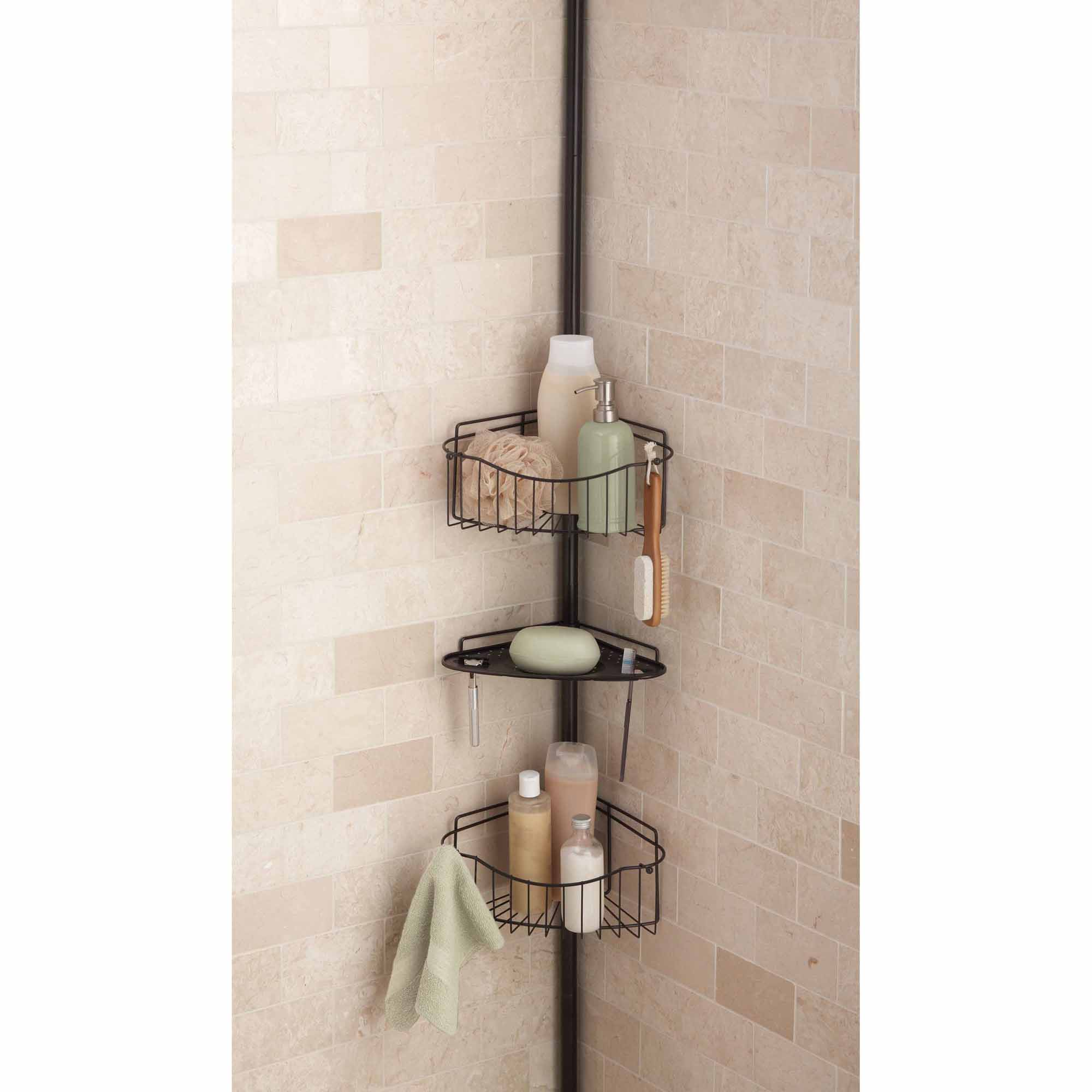 Chapter 3-Tier Tension Pole Shower Caddy, Oil Rubbed Bronze