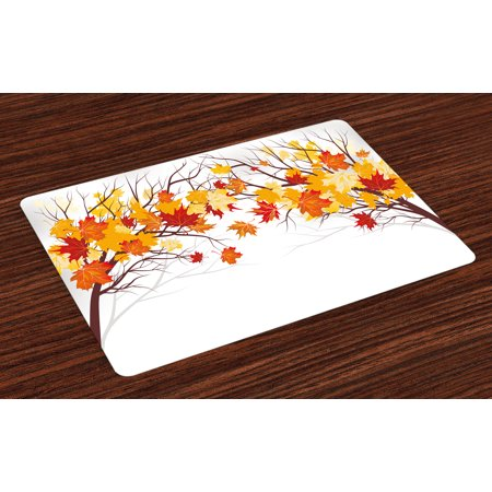 Fall Placemats Set Of 4 Image Of Canadian Maple Tree