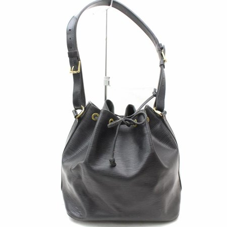 louis-vuitton Bucket Noir Petit Noe Drawstring Hobo 868953 Black Leather Shoulder Bag