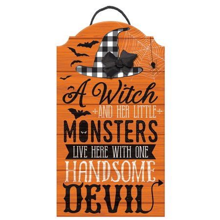 Please Take Just One Halloween Sign (Rustic Family Halloween Easel Sign, Family Themed, Measures 25 by 13)
